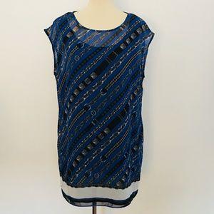 MICHAEL Kors Urban Blue Chain Print Shift Dress